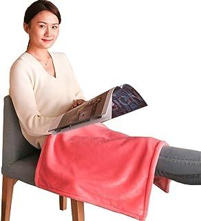 YXCA Heating Blanket Manta calefactada eléctrica Individual Mantas calefactoras Patas de Oficina en el hogar de Invierno Calentamiento de Rodilla extraíble Lavable 80 x 150 cm