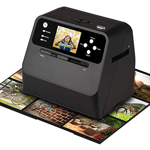 High Resolution Film Scanner,Converts 135 Film Negatives & Slides and Photo to Digital Converter for Save in SD Card,2.4 Inch LCD Screen,Supports Windows XP/Vista/ 7/8/10/MAC