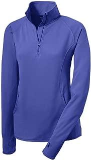 Ladies Moisture Wicking Stretch 1/2-Zip Pullover Sweatshirts. Sizes XS-4XL
