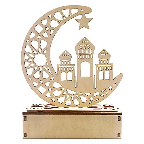 Ramadan Laterne ,Halbmond Star Lanterns Islam Eid ,Halbmond Nachtlicht FüR Muslimischen Islam Eid, Wesentliche Dekorationen FüR Ramadan-Gebete ,Mond Sterne Lichter Ramadan Licht Islamischen