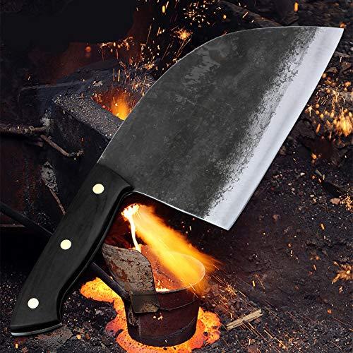 cuchillos set cuchillos cocina Full Tang Hecho a mano Chef Chef CHEFE CLAD STEAR Blade Hardia China Cuchillos de cocina Cuchillos Verduras de carne rebanando cortando cuchillos set cuchillos cocina