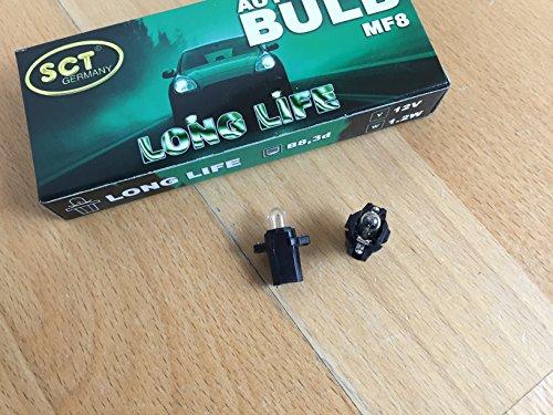 10 x SCT GERMANY LONGLIFE LAMPE MF8 B8,3D 12V 1,2W LAMP BULB