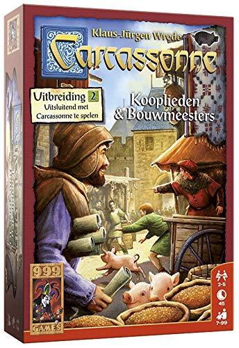 999 Games - Carcassonne: Kooplieden & Bouwmeesters Bordspel - Uitbreiding vanaf 7 jaar - Een van de beste spellen van 2016 - voor 2 tot 5 spelers - 999-CAR04N