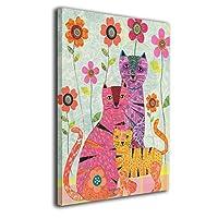 Skydoor J パネル ポスターフレーム 花 猫 インテリア アートフレーム 額 モダン 壁掛けポスタ アート 壁アート 壁掛け絵画 装飾画 かべ飾り 50×40