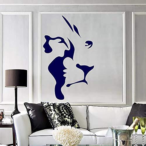 Cabeza de león abstracta Vinilo Tatuajes de pared Animal africano Predator Pegatinas de pared Accesorios de decoración del hogar para sala de estar Pegatinas de pared- * 42x69cm