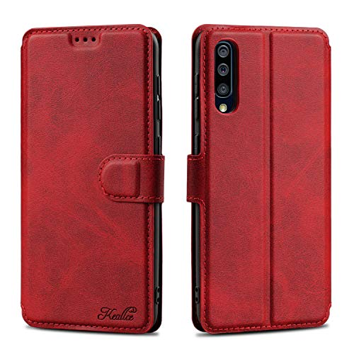 Keallce für Samsung Galaxy A50 Hülle, Samsung A50S Handy Hülle Lederhülle, Galaxy A30S PU Leder Hülle Brieftasche Handytasche Cover Kompatibel für Samsung Galaxy A50/A50S/A30S Ledertasche-6.4