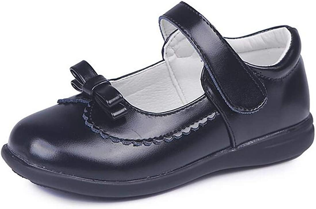 LFHT Girl's Mary Jane School Uniform Shoes Strap Dress Uniform Flats Black (Toddler/Little Girl)