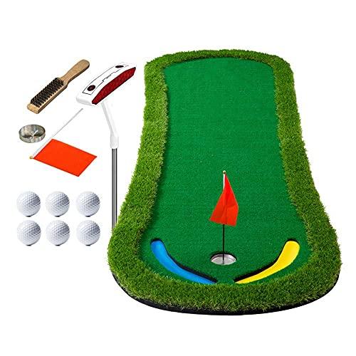 WBJLG Golf Putting Mats, 95 300cm Nylon Grass Golf Mat, Indoor Office and Outdoor Golf Practice Mat