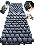 Backpacking Sleeping Pad for Camping, Hiking, Travel - Backpack Inflatable Traveling Mat - Lightweight, Portable and Foldable Camp Air Mattress