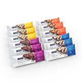 HMR Bars, 6 of each flavored Chocolate Peanut Butter Bars, Double Chocolate Chip Bars, Iced Oatmeal Bars, Lemon Bars, 10g Protein, 150-170 Calories,24 Count (Variety Pack)