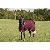 Rider's by Dover Saddlery Supreme Heavyweight Turnout Blanket - Burgundy/Black, 80
