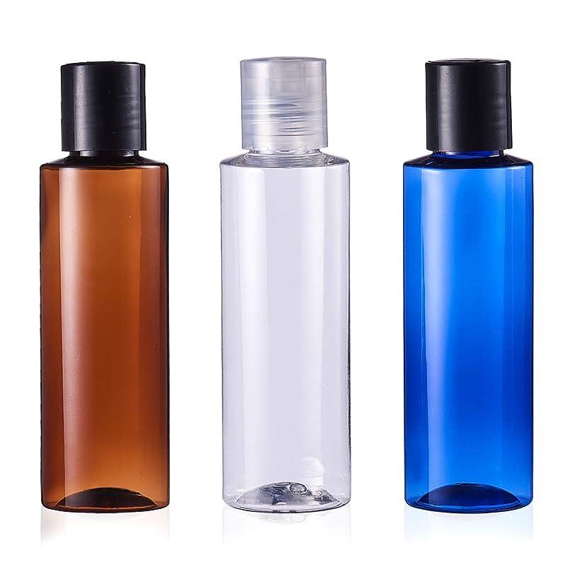 オペレーター矩形ラフトBENECREAT 120mlプレスキャップボトル 6個セット3色小分けボトル プラスチック容器 液体用空ボトル 押し式詰替用ボトル 詰め替え シャンプー クリーム 化粧品 収納瓶