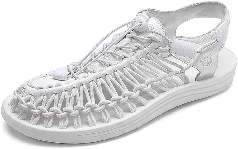 Herren Sandalen Sandalen Sandalen handgewebte verschleißfeste atmungsaktive Sportsandalen Baotou Schnürungstuch große Freizeitschuhe Sommer Outdoor,E,43EU  3e560f