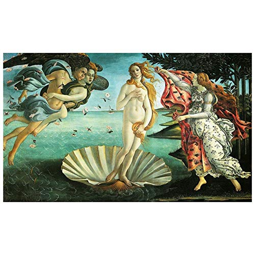LegendArte Sandro Botticelli La Nascita di Venere Stampa Digitale su Tela, cm. 60x100 - Quadro su Tela, Decorazione Parete