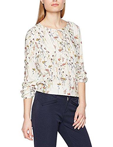 ESPRIT Damen 027EE1F003 Bluse, Mehrfarbig (Off White 110), 36