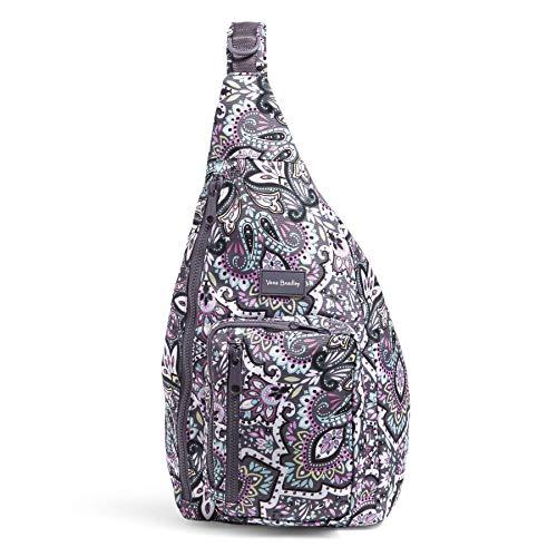 Vera Bradley womens Recycled Lighten Up Reactive Sling Backpack Bookbag, Bonbon Medallion, One Size US