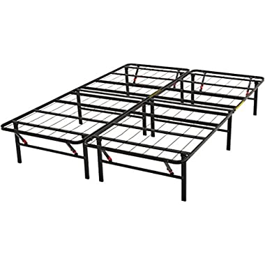 AmazonBasics Platform Bed Frame, Black, Full