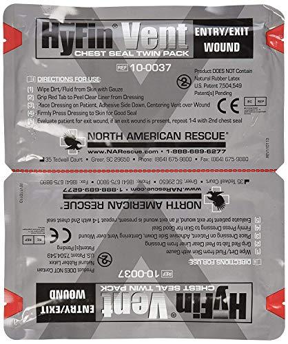 North American Rescue Hyfin Vent Chest Seal, 2 Count (5)