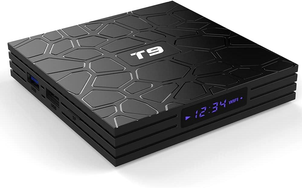 Android 10.0 TV Box RK3328 Quadcore Cortex-A53 4K Smart Set Top Box 5G Dual Band WiFi+Bluetooth Media Players