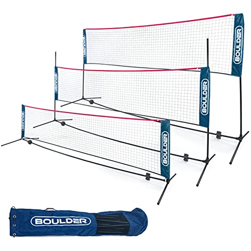 Boulder Portable Badminton Net Set - for...