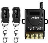 DONJON,Commutateur à distance sans fil, commutateurs AC 110V / 220V / 230V / 240V RF à télécommande pour systèmes de sécurité de pompe Barrières de rideaux de porte, etc. avec 328ft de long rayon