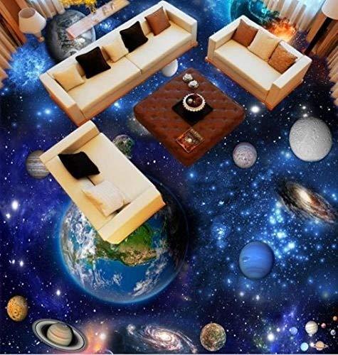 Universe Planet Eart Floor Sticker Wallpaper Kundengebundenes Irgendein Größen-Foto-Tapeten Badezimmer-Fußboden-Selbstklebendes Pvc-Wasserdichtes Tapeten-Wandgemälde Für Wohnzimmer Schlafzimmer