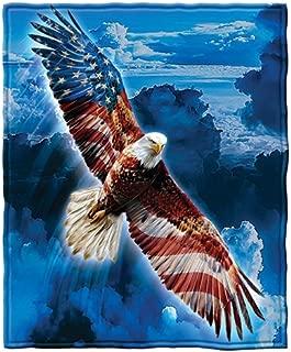 Dawhud Direct American Eagle Fleece Throw Blanket
