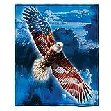 Dawhud Direct American Eagle Super Soft Plush Fleece Throw Blanket