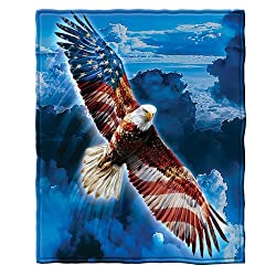 Image: American Eagle Fleece Throw Blanket, by Dawhud Direct