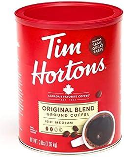 Tim Hortons 100% Arabica Medium Roast Original Blend Ground Coffee, 3 Pound Can