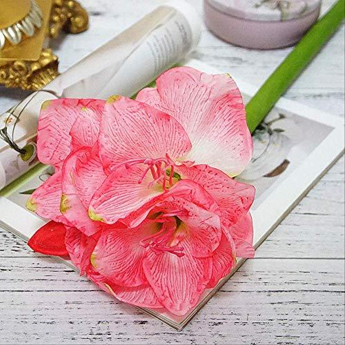 XFLOWR 4 delen/los kunstmatige amaryllis bloem fleurs artificielles voor huis tafel bruiloft decoratie zijden bloemen hippeastrum bloemen roze