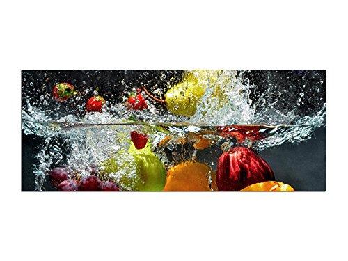 Obst Wasser Glasbilder Echtglas Wandbilder Glas 125 x 50cm AG312502198 / Deco Glass, Design & Handmade/Eyecatcher, Kunstdruck!