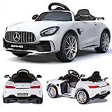 Mercedes-Benz GT-R GTR SoftStart Kinderauto Kinderfahrzeug Kinder Elektroauto (Weiss)