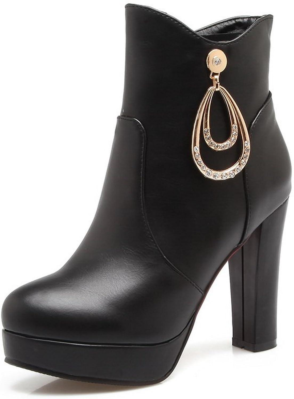 BalaMasa Womens Platform Comfort Casual Fashion Urethane Boots