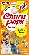 INABA Churu Pops - Hand-Feeding Cat Treats - Delicious, tasty cat snacks - Chicken, Yellow
