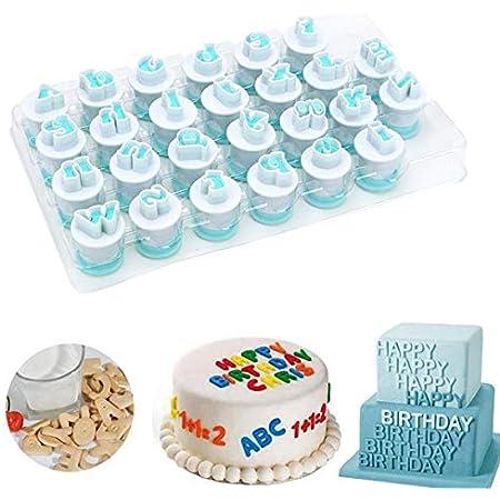 Mini Alphabet Numéro Lettre Gâteau Biscuit Stamp Cutter gâteau Mould Bakeware UK