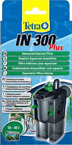 Tetra IN 300 plus Filtro interior - Filtros interiores potentes y confortables para la filtración mecánica, biológica y química