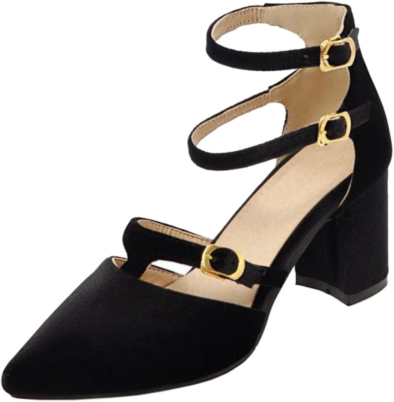 RizaBina Women Block Heel Sandals shoes