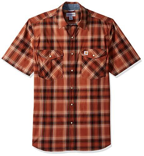 Carhartt Herren Rugged Flex Bozeman Short Sleeve Shirt Work Utility Hemd, 220-sequoia, Mittel