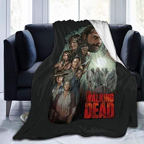 N  A Walking Dead - Manta de forro polar ultra suave de franela para dormitorio, sala de estar, sofá, manta cálida para adultos de 152 x 122 cm