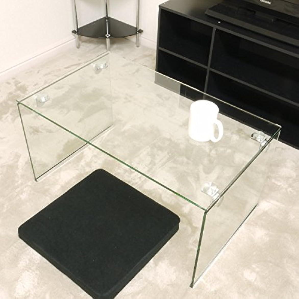 投票提案賄賂ガラステーブル クリア(透明) 75cm幅 ローテーブル センターテーブル コーヒーテーブル ガラス クリア テーブル 透明 高級感 カフェテーブル おしゃれ かわいい