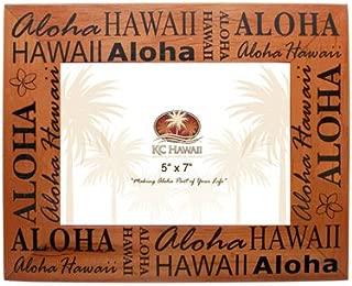 Aloha Hawaii Wood Picture Frame 5
