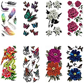 Temporary Tattoo Stickers - 8 Sheets