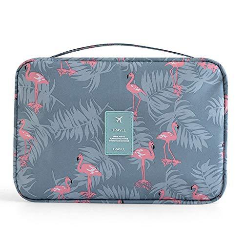 Amaoma Porta Trucchi Organizer Portatile Trousse da Viaggio Impermeabile Organizer Borsa per Toilette Borsa da Viaggio da Toeletta Beauty Case Donna Trucchi per Donna Ragazza Bambina, Flamingos
