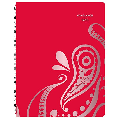 AT-A-GLANCE Weekly / Monthly Appointment Book / Planner 2016, Playful Paisley, Premium, 8.5 x 11 Inches (952P-905)