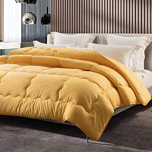CHOU DAN Teddy Fleece Luxurious Duvet,Winter Quilt Single Student Dormitory Cotton Quilt Spring And Autumn Quilt Four Seasons Universal Double Air Conditioning Quilt-150x200cm 3000g_yellow