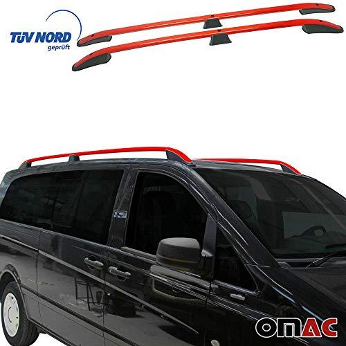 Barras de techo de aluminio OMAC Vito Viano W639 2003-2014, extra larga distancia entre ejes, portaequipajes con TÜV ABE específico para vehículos