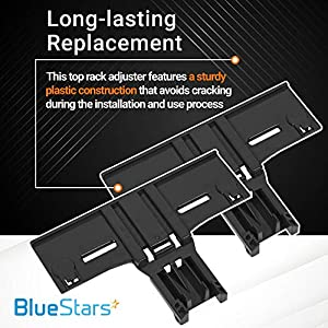 [ Upgraded ] Ultra Durable W10350376 Dishwasher Top Rack Adjuster Replacement part by Blue Stars – Exact Fit For Whirlpool & Kenmore Dishwashers - Enhanced Durability with Steel Screws - PACK OF 2