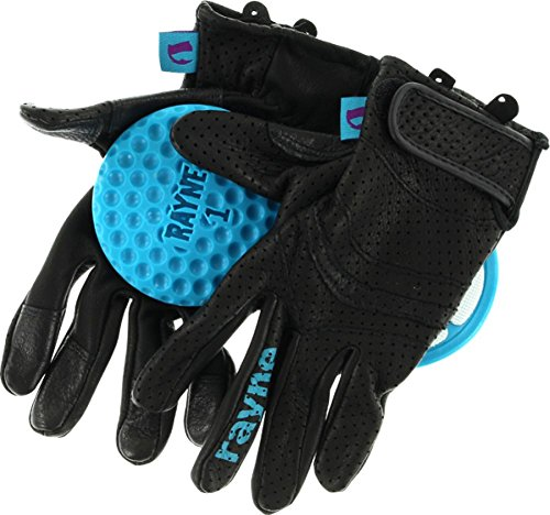 Rayne Longboards V2 High Society Safety Meeting Black / Cyan Large Slide Gloves by Rayne