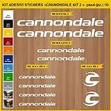 Stickers vélo Cannondale - KIT 2 -Kit Stickers 10 pièces – Choisir immédiatement Colore- Bike Cycle pegatina Cod.0915 (010 Bianco)